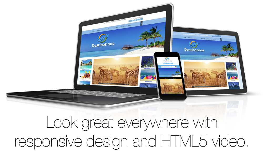 Modern Website with responsive design